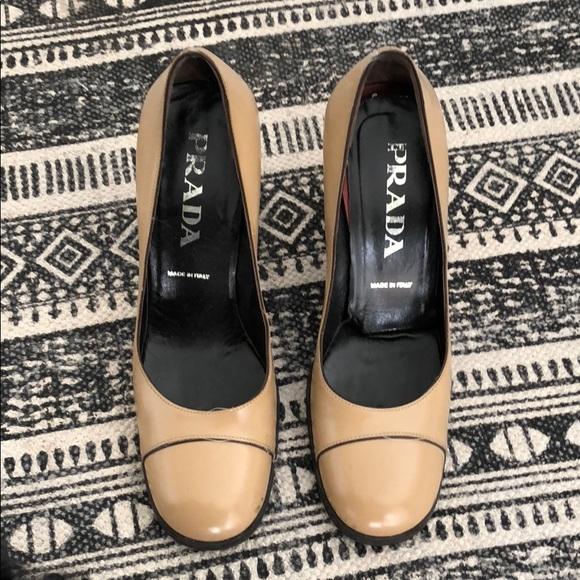 Prada Womens Black Leather Mesh Cage Peep Toe Platform
